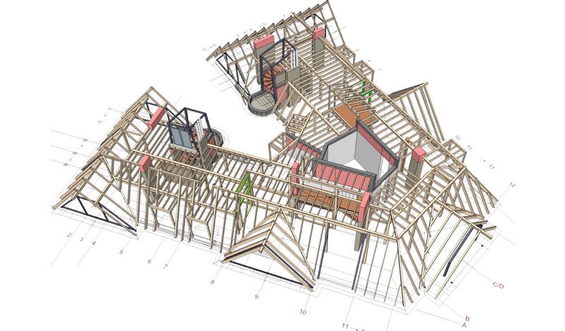 Dachgeschoss-Pankow-DachKonstruktion