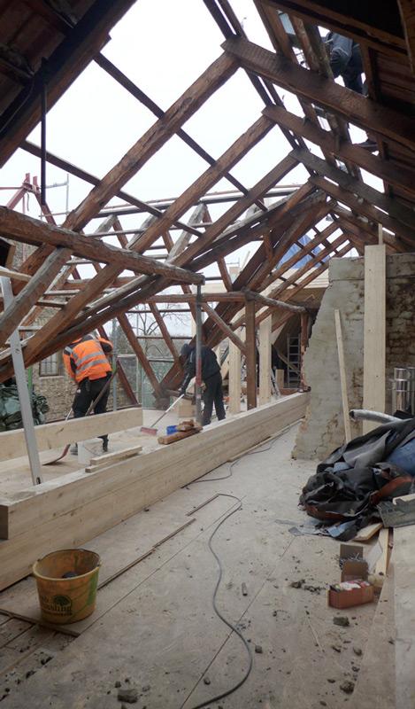Dachgeschoss-Pankow-Dachausbau-Bauphase
