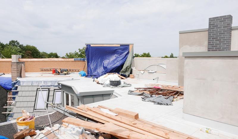 Dachgeschoss-Pankow-Dachgeschoss-Bauphase