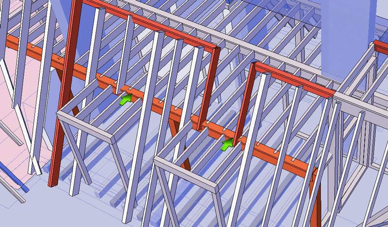 Dachgeschoss-Pankow-Konstruktion