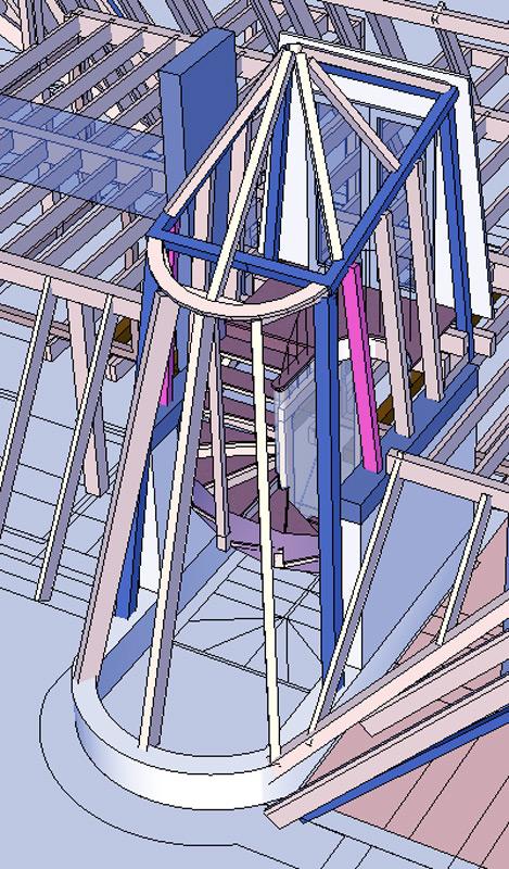 Dachgeschoss-Pankow-Treppe-Konstruktion