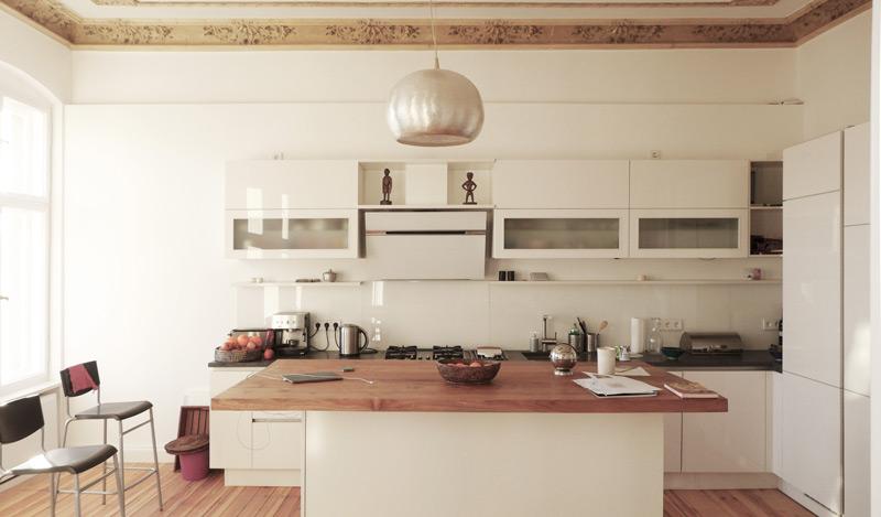 Denkmalschutz-Wohnungsumbau-Küche