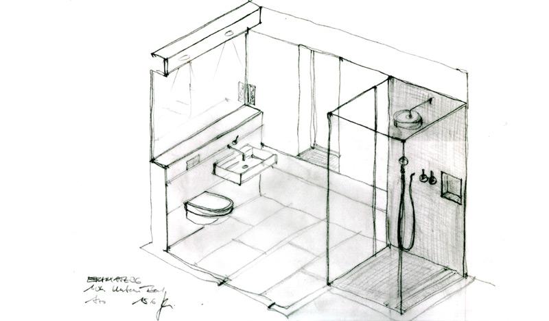 Einfamilienhaus-Eichkamp-Skizze