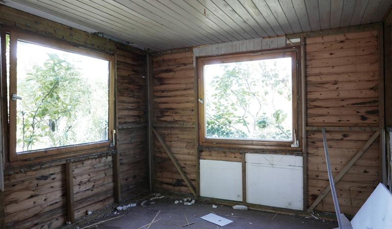 Gartenhaus-Bauphase-Abriss